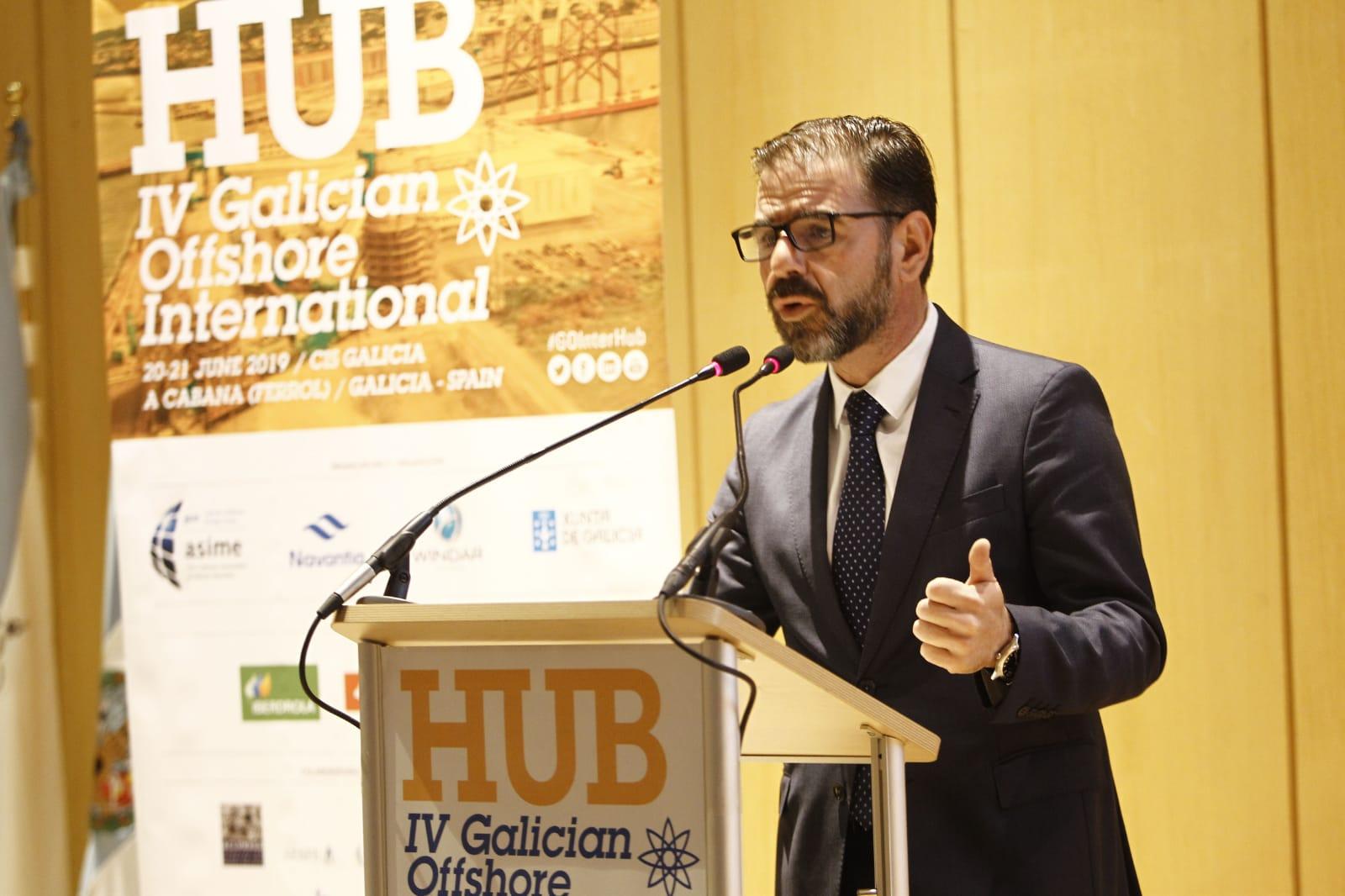 O alcalde inaugura o congreso Galician Offshore, que se celebra estes días no CIS da Cabana
