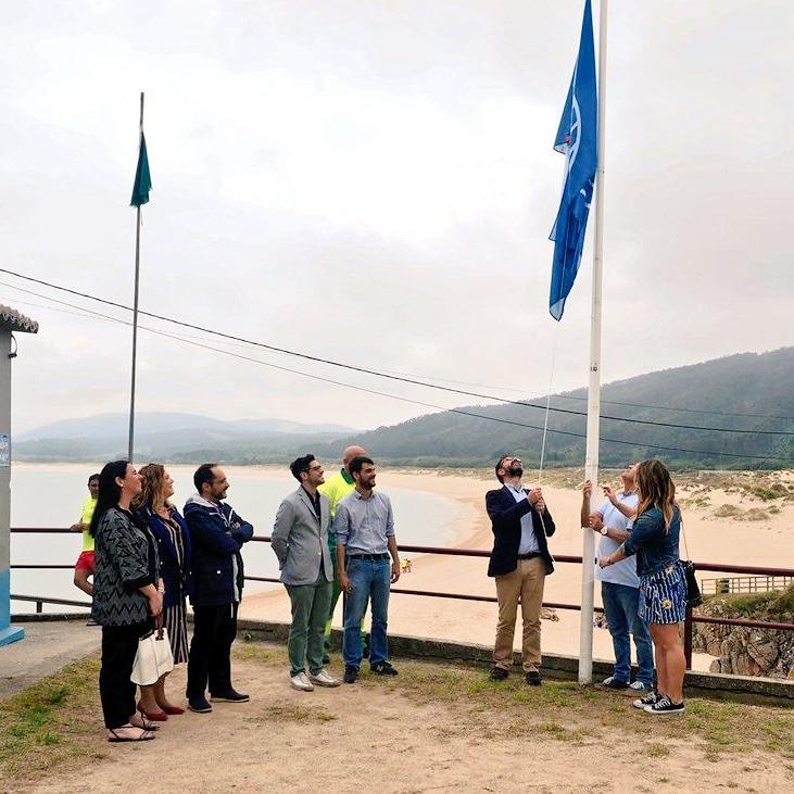 As praias de Doniños, San Xurxo, Esmelle e A Fragata xa ondean as súas bandeiras azuis